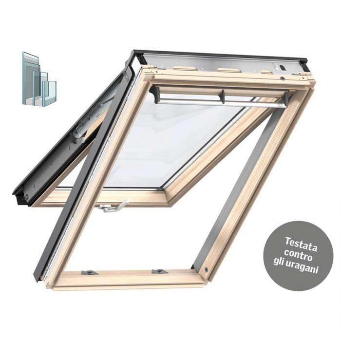 Finestra Tripla Protezione doppia apertura in legno
